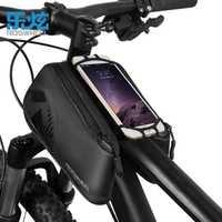 ROSWHEEL serie Cruz marco delantero tubo bolsa para 4,0-6,7 pulgadas teléfono deportes al aire libre impermeable bicicleta accesorios 1680D nylon