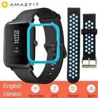 Versión en inglés Xiaomi Amazfit Bip inteligente reloj de los hombres Hua mi ritmo Smartwatch para IOS Android Monitor de ritmo cardíaco 45 días de batería