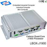 Barato sin ventilador J1900 Firewall Mini servidor Firewall Mini PC servidor Linux Mini PC 2 puerto Ethernet