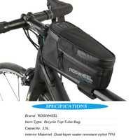 ROSWHEEL bicicleta Top tubo bolsa de deporte al aire libre ciclismo bolsa resistente al agua para bicicleta marco Pannier bolsa