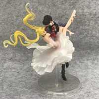 Pretty guardian Sailor Moon & Chiba Mamoru acción modelo anime figura 24 cm colección juguetes figuras regalo