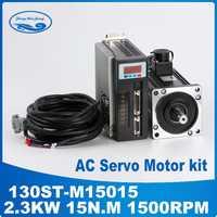 ¿2.3KW 130ST-M15015 220 V AC Servo motor de 2300 W 1500 RPM 15N? -Fase ac imán permanente coincidentes conductor AASD-30A