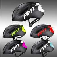 2018 PMT nuevo casco de bicicleta integralmente moldeado casco de ciclismo transpirable carretera montaña MTB casco de bicicleta