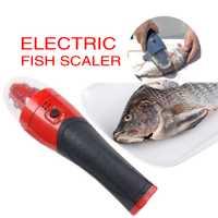Peces eléctricos Scaler raspador de piel de pescado escala removedor de Descaler pescado cuchillo utensilios para marisco accesorios de cocina