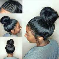 Pelucas del pelo humano del frente del cordón del RXY para las mujeres negras pelucas del pelo humano del cordón completo del Pre desplumado con la onda brasileña del cuerpo del pelo del bebé no Remy
