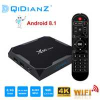 X96 Max Smart tv box Android 8,1 a 2,4G/5G Wifi Bluetooth 4,0 S905X2 Quad Core 4 K full HD 1080 P Netflix reproductor X96max Set-Top Box