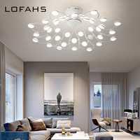 LOFAHS candelabro led moderno para sala de estar dormitorio comedor varias luces de techo blanca loft lámpara de iluminación