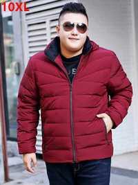 Grande taille Hiver 7XL veste rouge lâche bouchon amovible Veste Hommes veste épais manteau marée Grande taille vers le bas veste 7XL 8XL 9XL 10XL