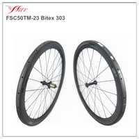 Farsports alta calidad del camino del carbón ruedas tubulares 50mm profunda 700C fibra de carbono completa 23mm ancho bicicleta de carreras sapim radios
