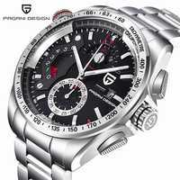 Relojes deportivos al aire libre de diseño Pagani para hombre, marca de lujo, movimiento japonés, reloj de cuarzo, reloj de buceo, reloj de acero inoxidable, reloj masculino