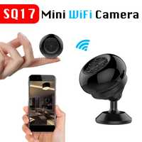 SQ17 Mini cámara inalámbrica WiFi hogar casco bicicleta Monitor de seguridad bebé videocámara imán soporte de vigilancia al aire libre Micro Cam