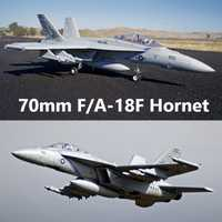 FMS RC avión F/A-18F F18 Super Hornet 70mm acondicionado ventilador FED Jet a gran escala modelo de avión PNP 6 S 6CH con se retrae solapas