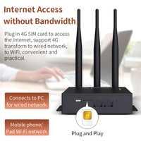 Plug & play WiFi Router 4G con ranura para tarjeta SIM ranura Punto de Acceso 2,4G al aire libre AP 4G LTE Router con 3 * 5dBi fuerte señal de las antenas