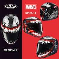 HJC RPHA 11 de fibra de carbono veneno casco MARVEL veneno de segunda generación de araña negra Pantera casco de hierro hombre la muerte de camarero