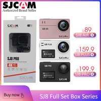 100% Original SJCAM-SJCAM SJ8 Pro y SJ8 Plus y SJ8 aire WiFi remoto casco deportes cámara de acción completo conjunto de accesorios caja Grande