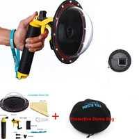6 ''nuevos accesorios para Go pro montaje impermeable Domo puerto para Gopro Hero 4 3 + 3 montaje de la cámara