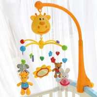 Juguetes De cuna de plástico extraíble cama musical campana bebé juguetes sonajeros música eléctrica juguete educativo colgar con animales Juguetes