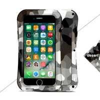 Camuflaje color metálico brillante pequeña cubierta de la cintura para iphone 7 8 PLUS X S R MAX Protector Anti-golpe teléfono shell