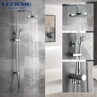 LEDEME nuevo cuarto de baño ducha de baño clásico grifo de la ducha baño grifo mezclador grifo con ducha de mano cabeza montado en la pared L2400