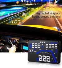 1 piezas 13*7,8*1,5 cm coche HUD Head up Display OBD2 GPS LCD de exceso de velocidad velocímetro de advertencia