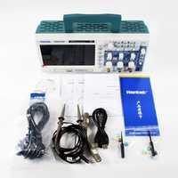 Hantek DSO5102P Osciloscopio Digital portátil 100 MHz 2 canales 1 GSas longitud de registro 40 K USB LCD portátil Osciloscopio 7 pulgadas