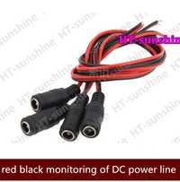 DC 5,5*2,1mm hembra de alimentación de 12 V DC Pigtail Cable Jack para cámara de seguridad CCTV Cable de conector sistema de vigilancia