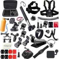QQT para Gopro accesorios set para go pro hero 6 5 4 3 kit de montaje 360 soporte rueda xiao mi yi /Eken h9r Cámara Accesorios