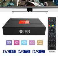 Magicsee C400 Plus Amlogic S912 3 GB 32 GB Android 7.1.2 4 K Smart TV Box DVB-S2 DVB-T2 DVB-C Dual wiFi pk MECOOL matar Pro