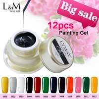 12 unids paquete marca lvmay Uñas de gel laca efecto DIY Manicura soak off gel esmalte de uñas