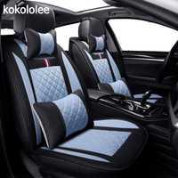 KOKOLOLEE lin Auto housses de siège De Voiture universel pour HYUNDAI Solaris Getz Elantra Accent Tucson Sonate i30 ix35 3D voiture- style