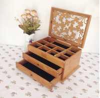Nuevo organizador de tres capas cajas de joyería de madera caja de almacenamiento de trébol de madera Europea caja de joyería oferta especial organizador de escritorio