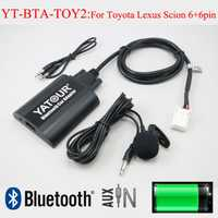 Yatour de audio de coche Bluetooth AUX mp3 interfaces para Lexus Toyota Camry Corolla Highlander RAV4 Vitz Avensis