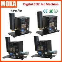 4 unids/lote DMX crio pantalla Digital CO2 máquina de chorro de alta presión solo CO2 tubo Jet conmutable de cañón