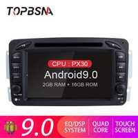 TOPBSNA Android 9,0 reproductor de radio para coche para Mercedes Benz CLK W209 W203 W208 W463 Vaneo Viano Vito 2 din GPS navegación WIFI ESTÉREO