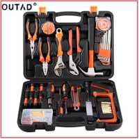 OUTAD100Pcs robusto ligero Universal precisión Multi-funcional mantenimiento reparación Hardware Instrumental hogar Kits de herramientas
