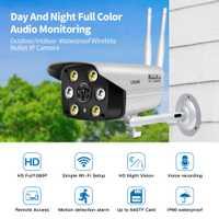 Cámara IP de seguridad al aire libre AP Hotspot Wifi cámaras de movimiento con visión nocturna a todo Color cámara IP WIFI