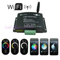 Nueva llegada LED WiFi RGB controlador ajuste de la temperatura del Color de atenuación 3-en-1 Funciones