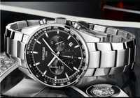42 MM SANGDO multifunción movimiento de cuarzo japonés esfera negra reloj de cuarzo de alta calidad al por mayor