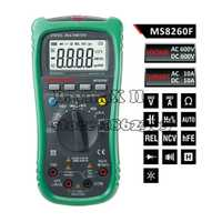 Mastech MS8260F megohmmeter DMM frecuencia W/NCV & HFE medidor y retroiluminación LCD multimetro multímetro digital de rango automático