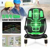 2/3/5 líneas cruzadas interior/al Aire Libre Verde nivel láser autonivelante 360 Rotary herramienta medida set US Plug radio alterna directa