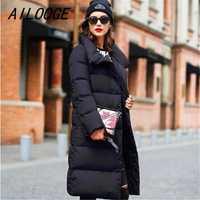 AILOOGE colección invierno mujeres abajo chaqueta caliente mujer alta calidad abajo Parka que espesan grande más tamaño ropa de abrigo