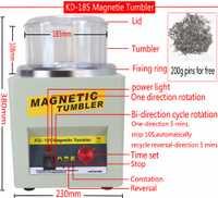 ¡Fabricante! KD/KT-185 magnético vaso joyería pulidora acabado máquina de acabado magnético máquina de pulido AC 110 V/220 V