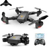 SHAREFUNBAY Quadcopter Mini plegable Selfie Drone Wifi FPV 0.3MP/2MP cámara de altitud RC Drone del JJRC H47 e58 Rc, Helic