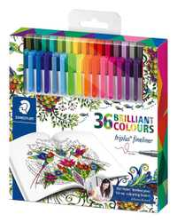 36 colores Staedtler micras de pluma Graffiti pintura Color plumas de Gel líneas pluma de dibujo marcadores Manga Oficina suministros de arte