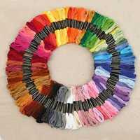 430 colores de poliéster de hilo de bordado Cruz puntada hilo patrón bordado Kit hilo de coser madeja de MYDING