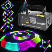 Láser RGB DMX RGB luz de la etapa 3D efectos DJ rojo verde azul la TDM-RGB400