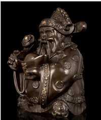 Escultura Fengshui Productos Suerte decoración cobre artesanías decoración fina Buda estilo bronce de Deseo fortuna