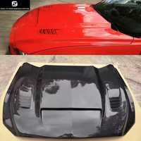 Funda de motor Crbon fiber FRP sin pintar para Ford Mustang car body kit 15-17