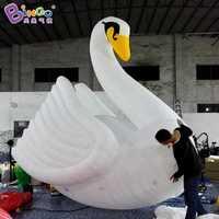 2018 nouvellement belle cygne ballon 4 m géant gonflable cygne modèle cygne jouets flotteur pour événement en plein air sport nautique carnaval décoration