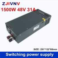 DC regulada 48 V 31A 1500 W interruptor controlador de fuente de alimentación transformador 110 V 220 V AC a DC48V SMPS para paso a paso CNC CCTV 3D impresora